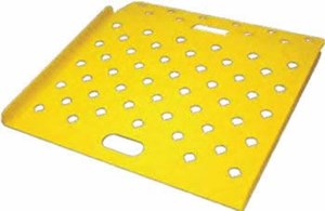 Aluminum Curb Ramp Powder Coated Safety Yellow