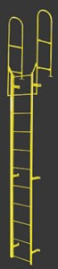 Fixed Steel Ladder With Walk Thru Rail