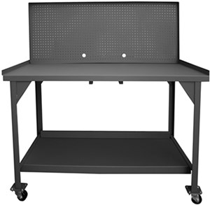 Mobile H D Workbench w/Peg Board-4000 lbs Cap