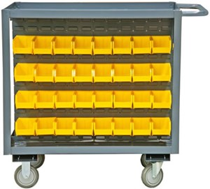 Mobile Bin Storage Cart, 1200 lb Capacity