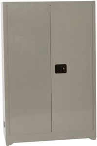 Gray Fire Resistant Storage Cabinet