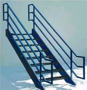 Pre-2017 Boca Stairs w/Painted Frame,Blk Treads