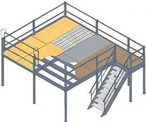 16x24 mezzanine black bar grating deck bar grate mezzanine floor