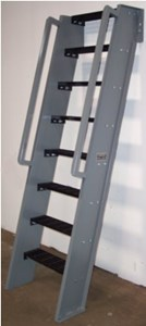 Hatch Access Ships Ladder, Black Treads