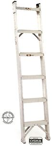 Aluminum Shelf Ladder, 6ft