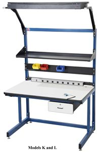 ESD Laminate Cantilever Leg Workstation