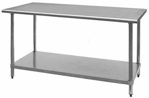 Stainless Steel Work Table w/Adj Shelf,24x36x34