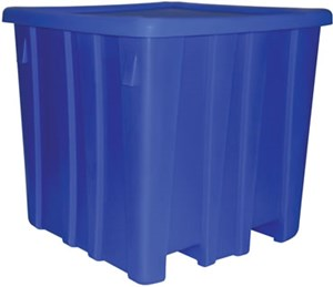 700 LB Capacity Orange Bulk Container
