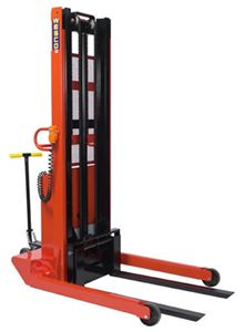 Telescoping Powered Stacker, Fixed Width Base